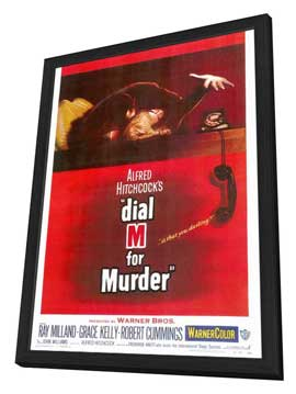 Dial M For Murder - 27 x 40 Movie Poster - Style A - in Deluxe Wood Frame