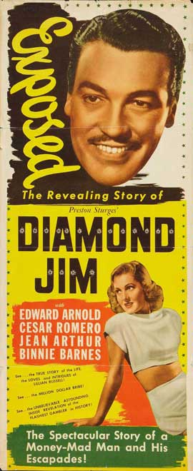 Diamond Jim - 14 x 36 Movie Poster - Insert Style A