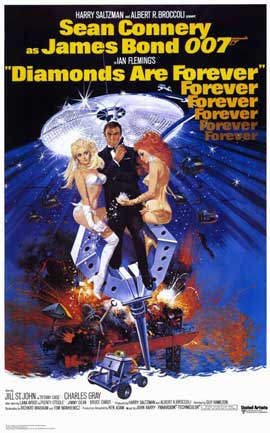 Diamonds Are Forever - 11 x 17 Movie Poster - Style B