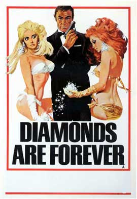 Diamonds Are Forever - 11 x 17 Movie Poster - Style A