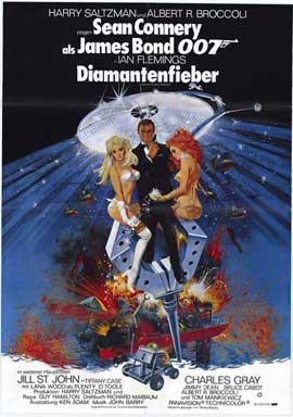 Diamonds Are Forever - 11 x 17 Movie Poster - German Style A