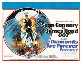Diamonds Are Forever - 11 x 17 Movie Poster - Style F