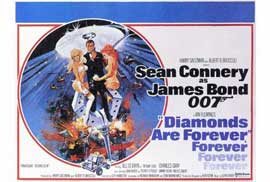 Diamonds Are Forever - 27 x 40 Movie Poster - Style B