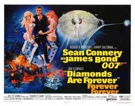 Diamonds Are Forever - 22 x 28 Movie Poster - Half Sheet Style A