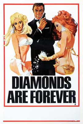 Diamonds Are Forever - 27 x 40 Movie Poster - Style C
