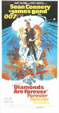 Diamonds Are Forever - 11 x 17 Movie Poster - UK Style A