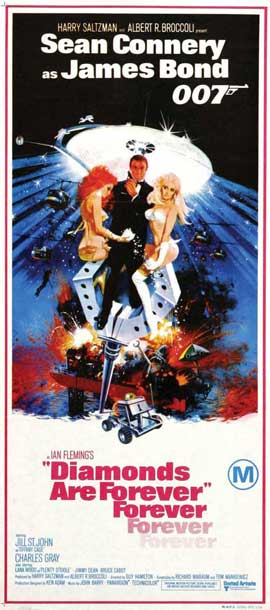 Diamonds Are Forever - 14 x 36 Movie Poster - Insert Style A