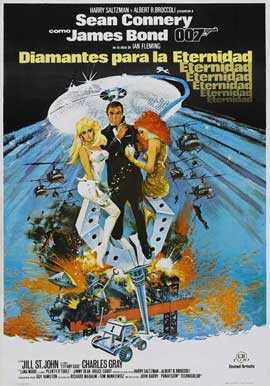 Diamonds Are Forever - 27 x 40 Movie Poster - Spanish Style A