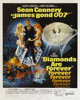 Diamonds Are Forever - 27 x 40 Movie Poster - Style D
