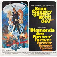 Diamonds Are Forever - 40 x 40 - Movie Poster - Style A