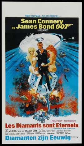 Diamonds Are Forever - 14 x 22 Movie Poster - Belgian Style A