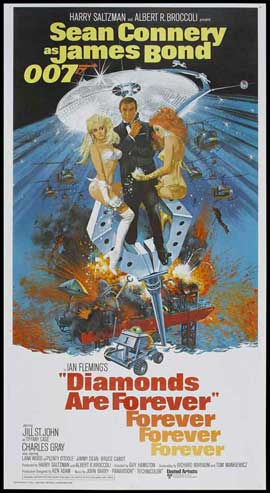 Diamonds Are Forever - 20 x 40 Movie Poster - Style A
