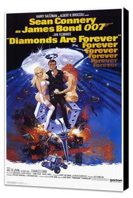 Diamonds Are Forever - 11 x 17 Movie Poster - Style B - Museum Wrapped Canvas