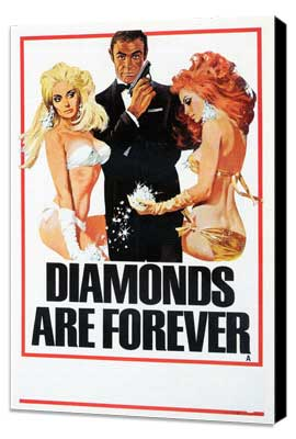 Diamonds Are Forever - 27 x 40 Movie Poster - Style C - Museum Wrapped Canvas