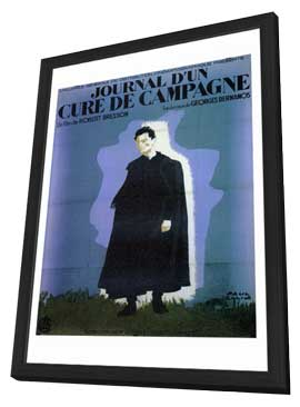 Diary of a Country Priest - 27 x 40 Movie Poster - Foreign - Style A - in Deluxe Wood Frame