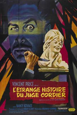 Diary of a Madman - 27 x 40 Movie Poster - French Style A