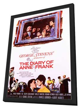 Diary of Anne Frank - 11 x 17 Movie Poster - Style A - in Deluxe Wood Frame