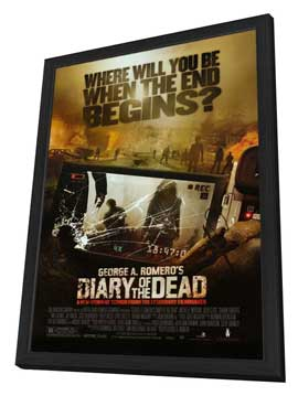 Diary of the Dead - 27 x 40 Movie Poster - Style A - in Deluxe Wood Frame