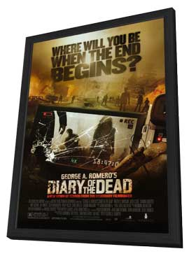 Diary of the Dead - 11 x 17 Movie Poster - Style A - in Deluxe Wood Frame