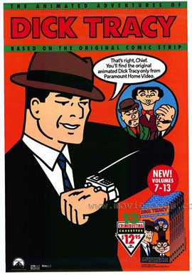 Dick Tracy - animated series - 11 x 17 Movie Poster - Style A