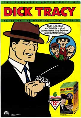 Dick Tracy - animated series - 11 x 17 Movie Poster - Style B