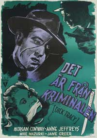 Dick Tracy - 11 x 17 Movie Poster - Swedish Style A