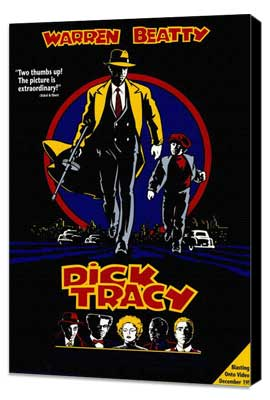 Dick Tracy - 27 x 40 Movie Poster - Style H - Museum Wrapped Canvas