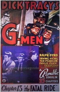 Dick Tracy's G-Men - 27 x 40 Movie Poster - Style B