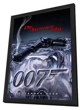 Die Another Day - 27 x 40 Movie Poster - Style A - in Deluxe Wood Frame
