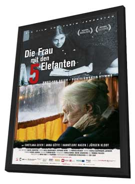 The Woman with the 5 Elephants - 11 x 17 Movie Poster - German Style A - in Deluxe Wood Frame