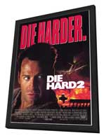 Die Hard 2: Die Harder - 27 x 40 Movie Poster - Style A - in Deluxe Wood Frame