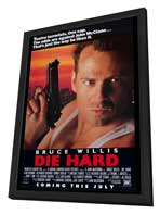 Die Hard - 27 x 40 Movie Poster - Style A - in Deluxe Wood Frame