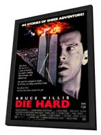 Die Hard - 27 x 40 Movie Poster - Style B - in Deluxe Wood Frame