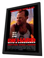 Die Hard: With a Vengeance - 27 x 40 Movie Poster - Style A - in Deluxe Wood Frame