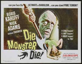 Die, Monster, Die! - 22 x 28 Movie Poster - Half Sheet Style A