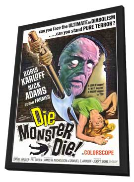 Die, Monster, Die! - 11 x 17 Movie Poster - Style A - in Deluxe Wood Frame