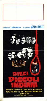 Dieci Piccoli Indiani - 13 x 28 Movie Poster - Italian Style A