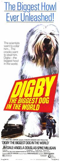 Digby, the Biggest Dog in the World - 11 x 17 Movie Poster - Style B