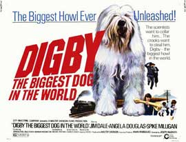 Digby, the Biggest Dog in the World - 11 x 14 Movie Poster - Style D