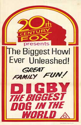 Digby, the Biggest Dog in the World - 11 x 17 Movie Poster - Style C