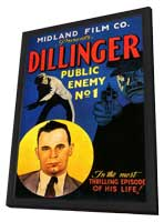 Dillinger - 11 x 17 Movie Poster - Style B - in Deluxe Wood Frame