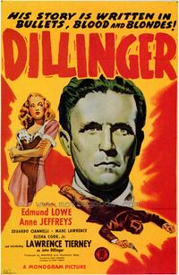 Dillinger - 43 x 62 Movie Poster - Bus Shelter Style A