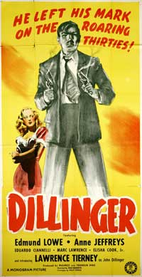 Dillinger - 11 x 17 Movie Poster - Style B