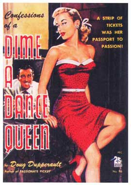 Dime a Dance Queen - 11 x 17 Retro Book Cover Poster