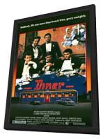 Diner - 11 x 17 Movie Poster - Style A - in Deluxe Wood Frame