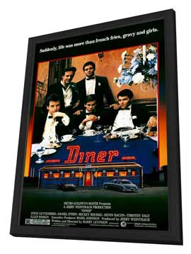 Diner - 27 x 40 Movie Poster - Style A - in Deluxe Wood Frame