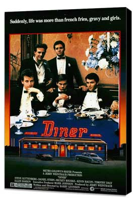 Diner - 27 x 40 Movie Poster - Style A - Museum Wrapped Canvas