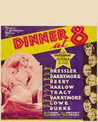 Dinner at Eight - 27 x 40 Movie Poster - Style F