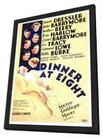 Dinner at Eight - 27 x 40 Movie Poster - Style A - in Deluxe Wood Frame