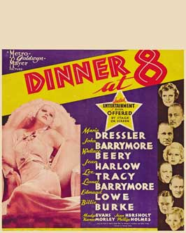 Dinner at Eight - 11 x 17 Movie Poster - Style E